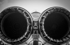 LONDON AIRSHOW 2017 (Dave GRR) Tags: plane airplane jet fighter f15 engine show airshow london canada 2017 ontario black white monochrome olympus omd em1 14150