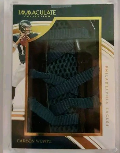 2016 Immaculate Collection Carson Wentz Rookie Laces 1 of 1