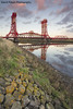 Newport Bridge (David Relph) Tags: newport newportbridge middlesbrough river rivertees northeast northyorkshire tees teesside industry industrial bridge reflection wideangle tamron1024mm canon 600d longexposure longshutterspeed ndgradfilter sunset clouds