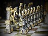 Ready to take on the enemy! (The Stig 2009) Tags: nikon thestig2009 thestig stig 2009 2017 tony o tonyo chess board pieces quality metal gold silver firenze florence tuscany italy marble