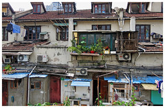 Backyards - Shanghai, China (TravelsWithDan) Tags: backyards building apartments shanghai china candid urban city canong16 outdoors