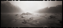 October Fog on the Cheat by DRCPhoto - Zero Image 612B pinhole camera; Kodak BW400CN film.