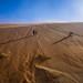 Sliding down the dune