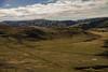 Farm (teresayvonne) Tags: landscape sky grass field tractor bales