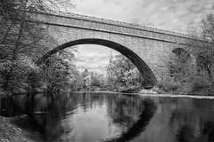 Echo Bridge (WilliamND4) Tags: echobridge bridge massachusetts newengland blackandwhite blackwhite water reflection river clouds nikon d810