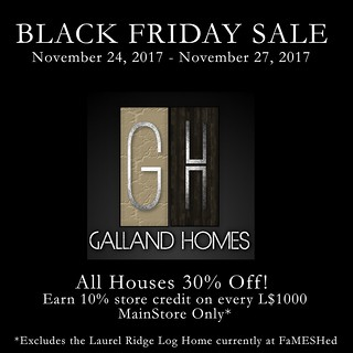 Galland Homes Black Friday 2017