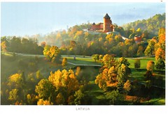 Postcrossing LV-281514 (booboo_babies) Tags: autumn autumncolors fall castle country turaida turaidacastle trees latvia postcrossing