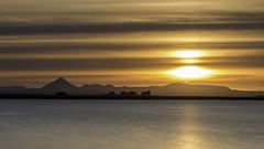 Bessastaðir sunset (Haraldur Ketill) Tags: bessastaðir keilir sunset sunsetcolors sunsetiniceland sunsetclouds sunsetporn reykjanes álftanes iceland president volcano volcanosunset mountain sea tamron 70200mm