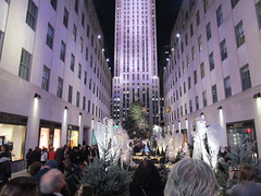 2017 Christmas Tree Rockefeller Center before lighting 4245 (Brechtbug) Tags: 2017 christmas tree rockefeller center before lighting 11252017 nyc 30 rock new york city standing up above ice rink with snow shoveling workers skating holiday decoration ornaments night lights lites light oversize load ornament prometheus gold mythological statue sculpture fountain fountains post thanksgiving