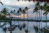 HumuHumuDinnerView2 (KompactKris) Tags: hawaii maui grand wailea resort beach ocean sunset sun sand sky clouds palm trees water blue orange green canon 6d