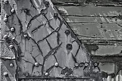 Decaying Train Texture 5427 B (jim.choate59) Tags: monochrome texture decay surface jchoate bw blackandwhite abstract rx100