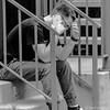 Bad News (www.karltonhuberphotography.com) Tags: 2017 alley bw blackandwhite concern dude expression karltonhuber man monochrome peoplewatching sadness santaana smartphone southerncalifornia squareimage steps streetphotography streetscene tension urban