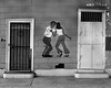 New Orleans, Louisiana 1987 (Dave Glass . foto) Tags: neworleans neworleansla orangeroom orangeroombar frenchquarterneworleans dancers doors fujigs645s