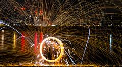 171202 3300 (steeljam) Tags: steeljam nikon d800 lightpainters wire woll spinning o2 isle dogs beach long exposure