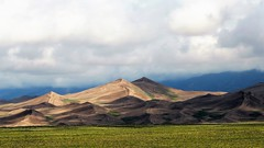 Abrupt Ending (Patricia Henschen) Tags: greatsanddunesnationalpark sand sanddunes sanluisvalley alamosa mosca colorado clouds mountain mountains sangredecristo nationalpark greatsanddunes nps medanocreek visitorcenter