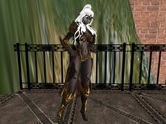 Dark Elf Priestess , Lydia -3 (AgentDrow) Tags: drow darkelf elf armor priestess artwork reference