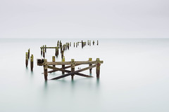 long slow goodbye (Derek Robison) Tags: dorset sea seascape longexposure swanage pier derelict ukcoast