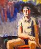 Hearsay Please (Thomas Hawk) Tags: california davidpark maninatshirt museum sfmoma sanfrancisco sanfranciscomuseumofmodernart painting fav10