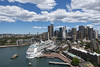 sydney city & cruise ship (Greg Rohan) Tags: sky blue clouds buildings skyscrapers skyline cityscape city sydneycity sydneyharbour cruiseship sydney d750 2017 sea water building boat ship nikkor nikon