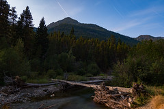 37 Minutes of Moonlight - Explored #10 (Tzacol) Tags: landscape 1650mm 16mm longexposure moon moonlight fujifilm xa1 nature river stream log stars night
