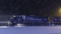 First snow (Thomas Coulombe) Tags: panamrailways panam wapo emdsd402m sd402m freighttrain train snow nightphotography belgrade maine