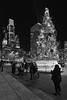 Christmas Lights (damonabnormal) Tags: bw monochrome phl philly philadelphia christmas xmas holidays twinkle lights tree christmastree urbanphotography night
