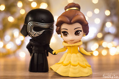 Kylo and Belle (Sabrina Franzoni) Tags: disney nendoroid doll belle beautyandthebeast abelaeafera movie classic bokeh toys toyart toyphotography figure collection japan goodsmilecompany goodsmile gsc cute starwars kyloren sadkylo