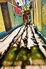 Favela em Foco (Favela em Foco) Tags: léolima brasil copadomundo riodejaneiro favela comunidade morro jacarezinho festa imagensdopovo worldcup 2010 morador muro cores bandeira africadosul rosa sombras bandeiras fitas enfeites rj