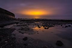 Thanet Earth glow (James Waghorn) Tags: sigma1020f456 westgateonsea beach d7100 longexposure water reflections rocks sea thanetearth kent winter clouds glow nikon england