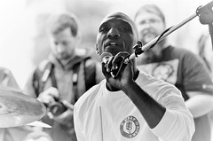 Cedric Burnside --- 2017 Juke Joint Festival (forestforthetress) Tags: cedricburnside trentonayers cedricburnsideproject bw blackandwhite jukejointfestial face man singer song drums music musician blues theblues bluesmusic omot nikon outdoor concert gig festival stage fun entertainment burnside clarksdale drummer bluesgrammy