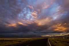 Sky Roar (JasonCameron) Tags: landscape sky utah clouds sunset light warm cool blue orange road drive old highway cloud salt lake city