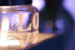 Tea Light (haberlea) Tags: home athome candle light tealight glass vase evening