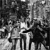Bubble fun (John Riper) Tags: johnriper street photography straatfotografie square vierkant bw black white zwartwit mono monochrome edinburgh scotland candid john riper xt1 fuji 18135 people fun bubbles happiness happy kids soap adamsmith statue iphone smartphone smart phone