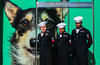 Sailors2017NYC) (bigbuddy1988) Tags: navy people portrait photography new nyc usa city manhattan nikon d7000 veteransday newyork green dog pets color colour friends three trio sailors