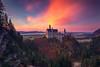 Fairytale Castle (dickvduijn) Tags: neuschwanstein castle bavaria sunset sundown germany