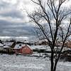 Première neige (Lucille-bs) Tags: europe france bourgogne côtedor ahuy 500x500 neige arbre maison maisonrouge ciel nuage rai