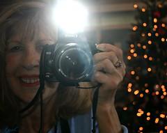 Just me (Lynn English) Tags: lynn canonrebel mirror tree bokeh