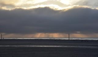 Abends am Strand; St. Peter-Ording, Eiderstedt (13)