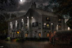 The White Horse, Worsley Rd (Kev Walker ¦ 7 Million Views..Thank You) Tags: architecture building canon1855mm canon700d digitalart hdr halloween northwest postprocessing pub thewhitehorse rain moon worsley