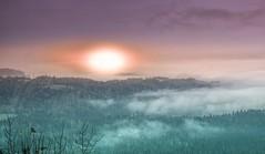 Views from Srnjak, Logatec (rlubej) Tags: notranjska hillsmountains fog lights colors