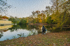 1338__0639FLOP (davidben33) Tags: brooklyn 718 ny quotnew yorkquot quotprospect parkquot autumn 2017 fall trees bushes leaves lake pets gooses ducks water sky clouds colors yellow green blue people quotstreet photosquot