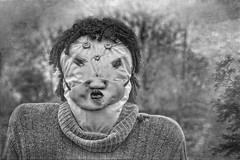 Scary Face (jauza1) Tags: bw blackandwhite noireblanc halloween