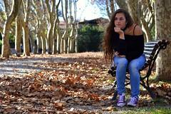 Self portrait - thinking about... (giuliaph.) Tags: me myself selfportrait selfie girl italiangirl livorno leghorn villafabbricotti thinking thoughts autumn autunno autoritratto ragazza italia tuscany toscana