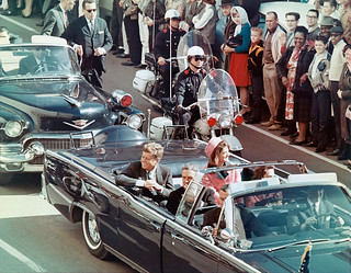 President and Mrs. John F. Kennedy Minutes Before His Assassination, 22 Nov 1963