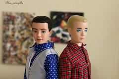 First and second (milomira1) Tags: barbie vintage francie doll barbiebaby vintagebarbie ken