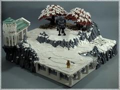 Hercules and the Erymanthian Boar (BobDeQuatre) Tags: lego moc hercules boar bp challenge brickpirate mythology