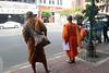 two monks in Bangkok Chinatown (_gem_) Tags: travel bangkok thailand asia southeastasia city street urban chinatown bangkokchinatown yaowarat people monk monks buddhistmonks buddhist buddhism religion robes orange