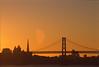 So San Francisco (marq4porsche) Tags: sanfrancisco california ca united states unitedstates usa sunset sky orange baybridge city cityscape skyline urban canon eos 1v 70200 f4 l fujifilm provia 100f film positive slidefilm fuji