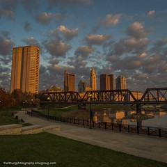 Golden Hour in Columbus (arthuroleary) Tags: goldenhour sunset city sonya6000 sony cityscape columbus columbusohio ohio streetphotography buildings architecture
