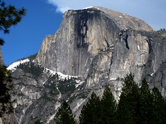 Half Dome, Yosemite National Park (moonjazz) Tags: yosemite geology stone halfdome california nationalpark hiking sierranevada mountain rock granite gray icon beauty winter snow majestic inspiration anseladams photography favorite famous giant sheer climb